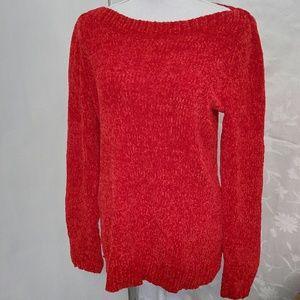 NWT Super soft chenille boatneck sweater sz LG
